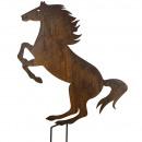 Metall Pferd, zum Stecken, H120B70cm, rost